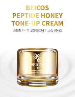 kem trắng da beicos peptide tone up cream review