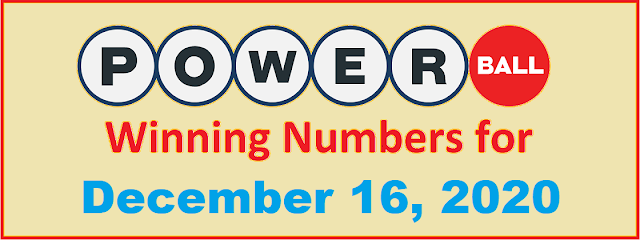 PowerBall Winning Numbers for Wednesday, December 16, 2020
