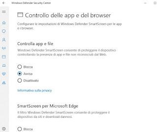 Protezione defender app
