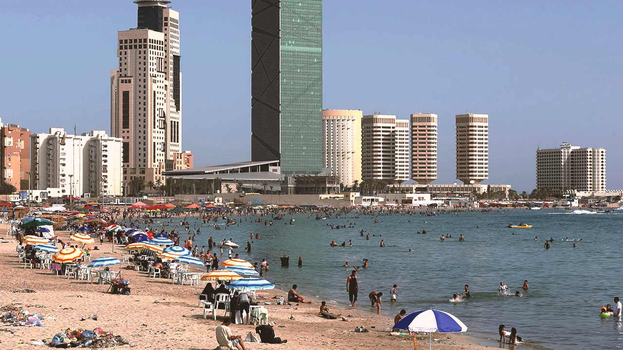 people in beach in libya most richest nation in africa