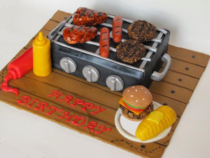 Birthday Grill Cake