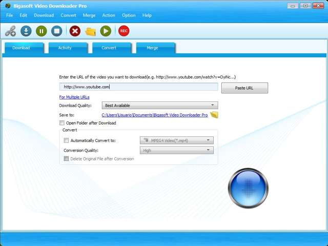 Bigasoft Video Downloader Pro v3.14 Full (Descargar y convertir videos de youtube)
