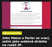 John Matze a Parler se vrací, zatím jako webová stránka na ruské IP. - AzaNoviny