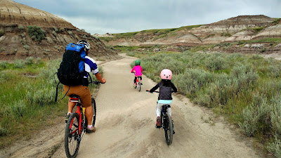 Biking in Midland Provincial Park, Drumheller