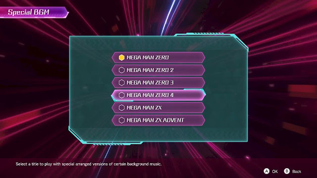 Mega Man Zero ZX Legacy Collection Special background music BGM option Reploid Remixes