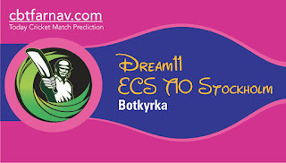 Today match prediction ball by ball ECS T10 Botkyrka Spanga United CC vs Stockholm Tigers 100% sure Tips✓Who will win SUN vs STT Match astrologyToday match prediction Dream11