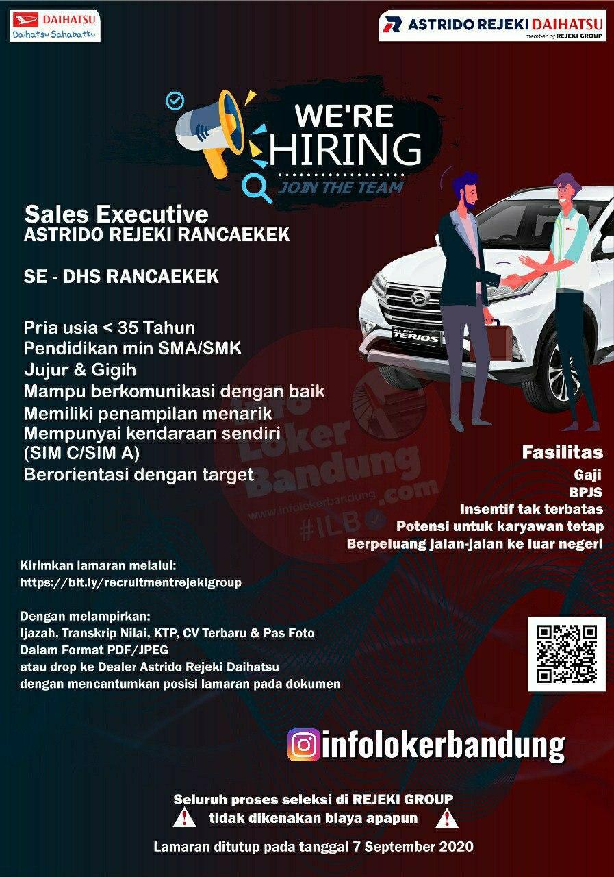 Lowongan Kerja Sales Executive Astrindo Rejeki Daihatsu Bandung Agustus 2020