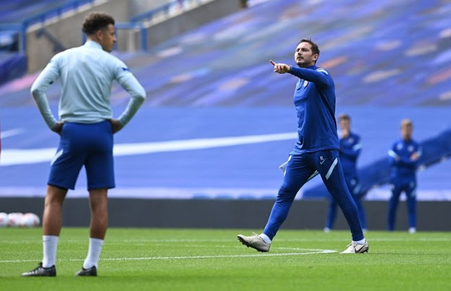 Frank Lampard urges Chelsea fans not to be ahead of themselves