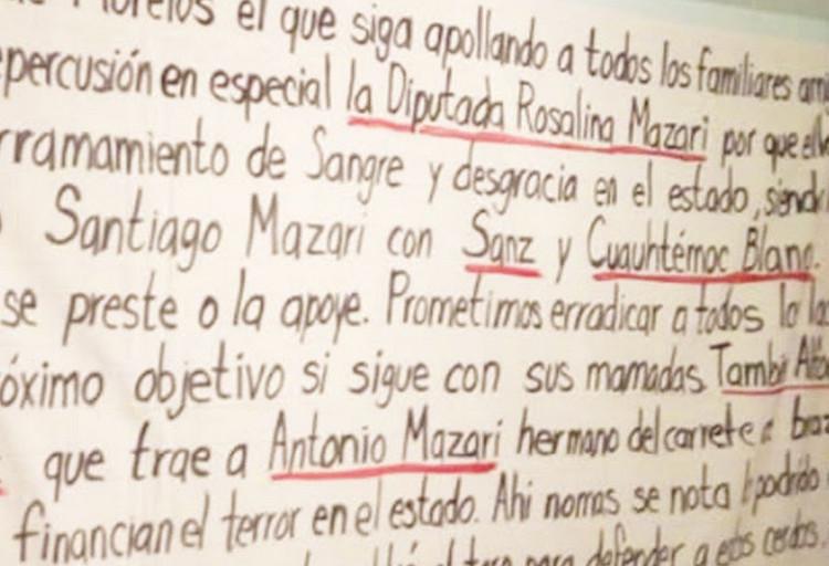 """""""Quien le saldrá al toro para defender a esos Cerdos"""", """"La Mera Verga"""" amenaza a Políticos, Familiares, Amigos y Cómplices de """"El Carrete"""" en Morelos"""