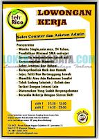 Lowongan Kerja Surabaya di Teh Rico Terbaru November 2019