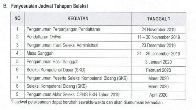 Pendaftaran CPNS Calon Pegawai Negeri Sipil 2019 diperpanjang oleh BKN