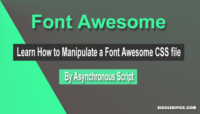 asynchronous Font Awesome