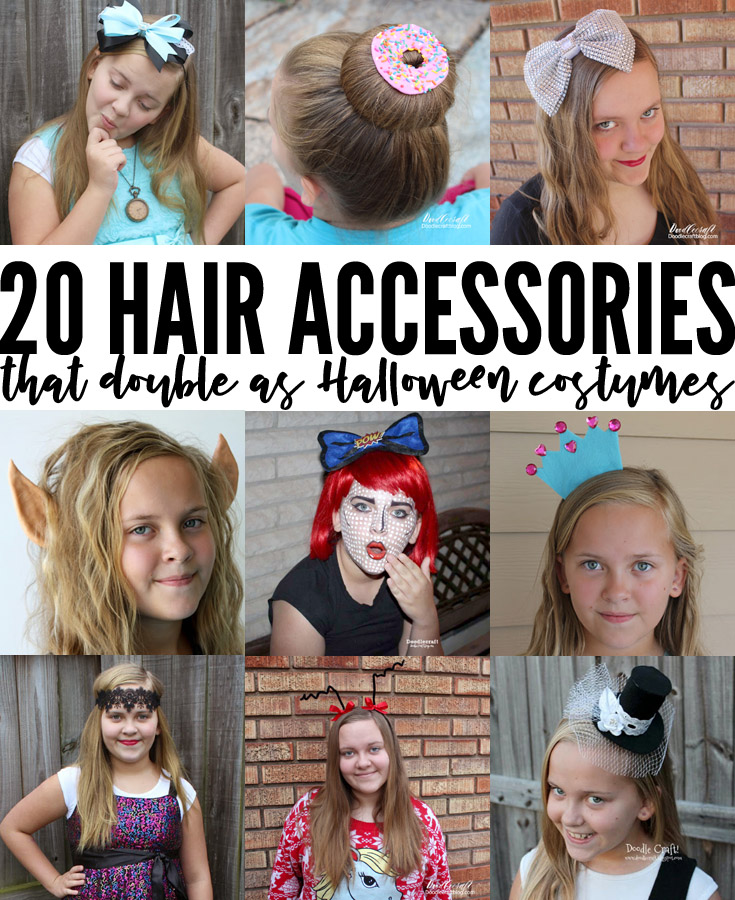 Head bands and accessories that are quick to DIY and wear for Halloween!