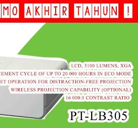 Projector Panasonic W Portable Series PT-LB305 <del>Rp 9.050.000,-</del> <price>Rp.8.250.000,-</price> <code>HH003-PT-LB305</code>