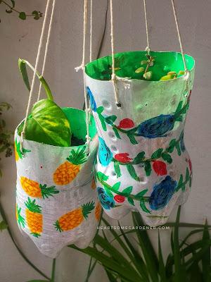 plastic bottle planter, soda planter
