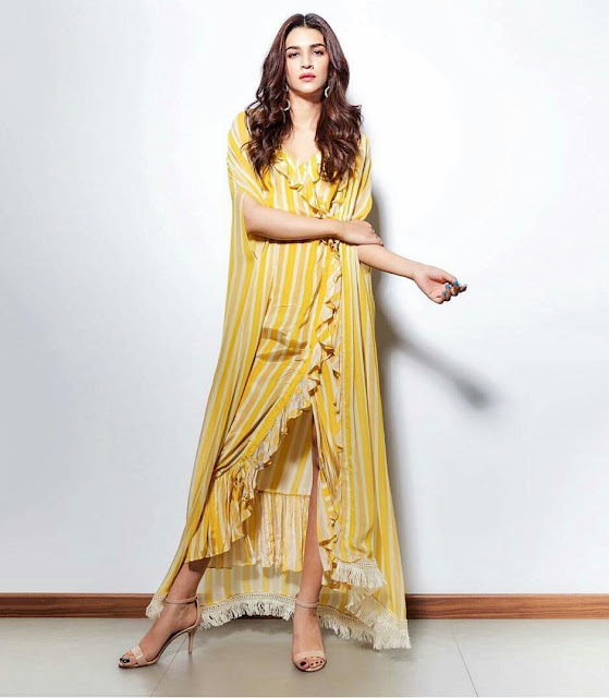 Kriti Sanon Full HD Wallpaper In Yellow Dress