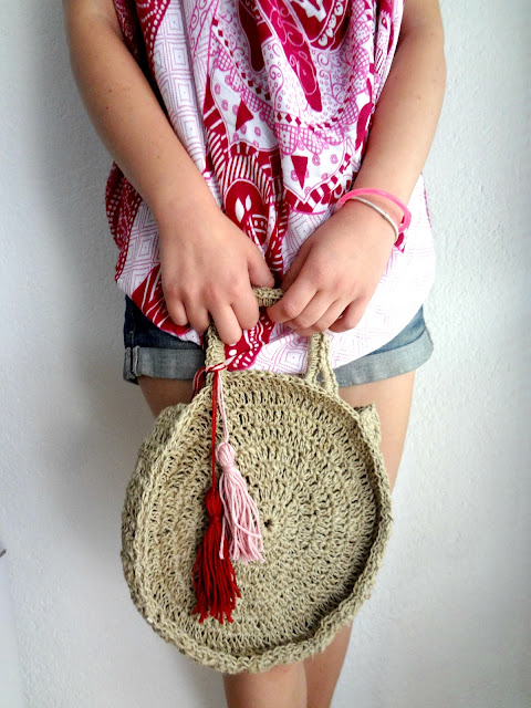 Crochet Round Hemp Bag from The Little Treasures