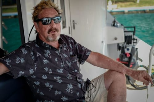John McAfee was accused of cryptocurrency fraud