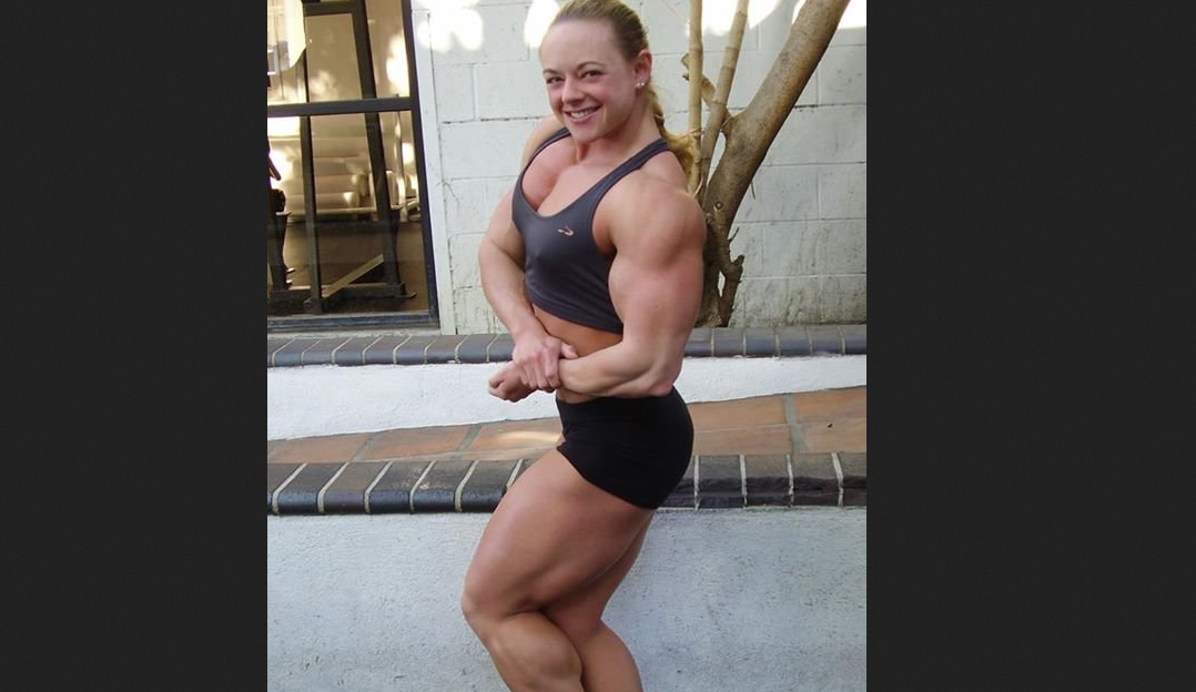 Kristy Michelle Hawkins powerlifter and and professional female bodybuilder