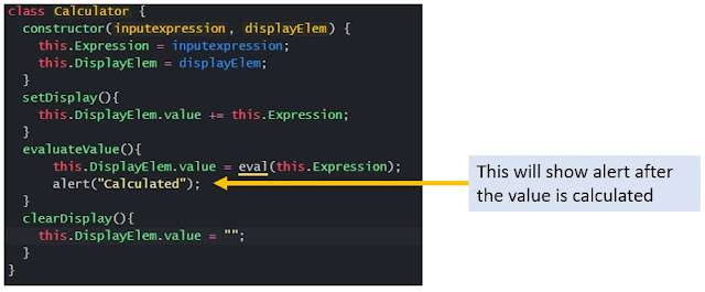 Added alert in evaluateValue() function