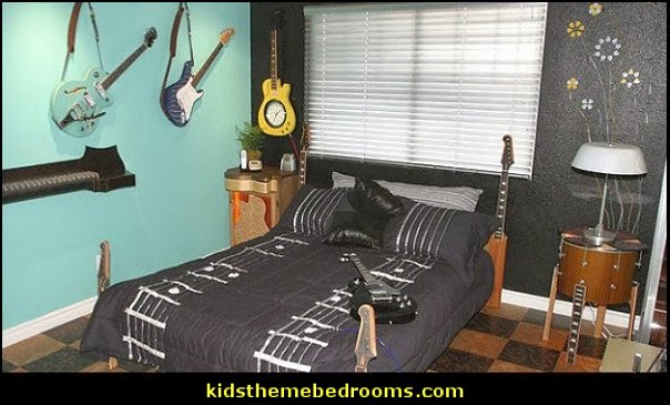 Decorating Theme Bedrooms Maries Manor Music Decor Music Bedroom Ideas Music Decorations Music Bedding Music Pillows Music Rugs Music Wall Decals Guitar Decor Piano Decor Rock Star Bedrooms Music Party Supplies
