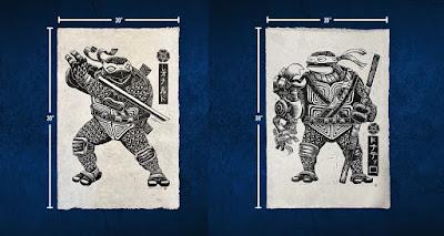 Teenage Mutant Ninja Turtles Linoleum Block Print by Attack Peter x iam8bit