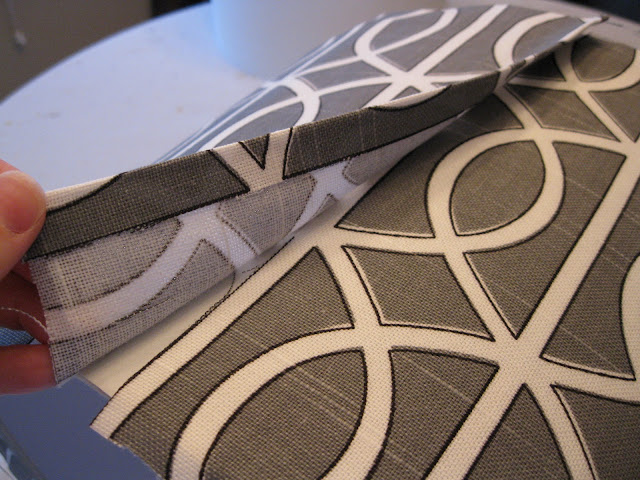 wrapping fabric around drum shade