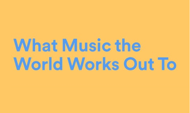 Top Workout Music on Spotify #Infographic