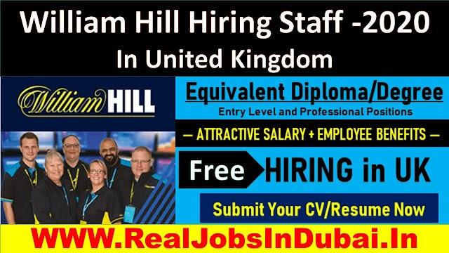 William Hill Hiring Staff |Jobs In United Kingdom |