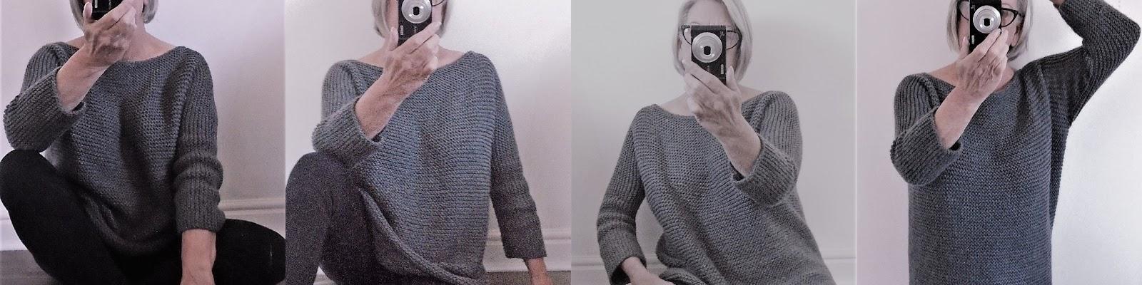 Aran Garter Stitch Tee Sweater Knitting Pattern