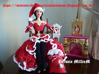 Como o Vestido de Crochê Para o Natal da Barbie Ficou Ainda Mais Bonito?