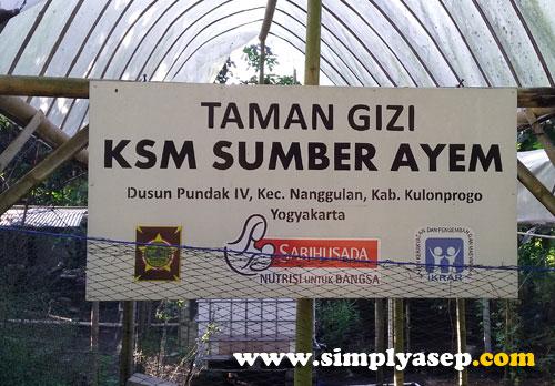 KREATIF : Dusun Pundak IV ini banyak usaha ekonomi yang kreatif seperti apotik hidup, pembuatan abon dan banyak lagi.  Dua jempol deh. Foto Asep Haryono