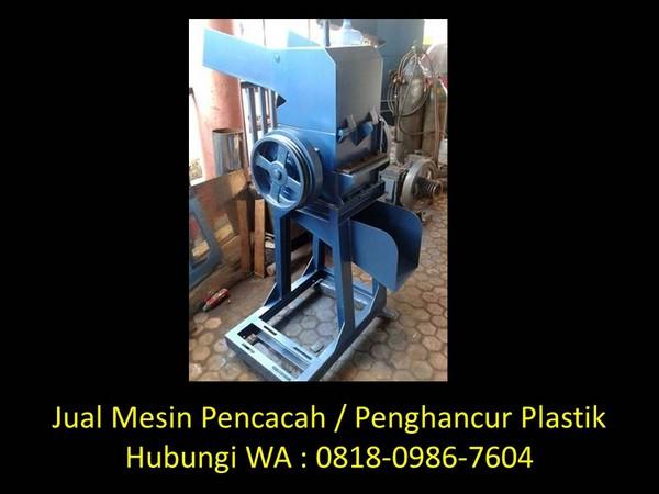 merancang mesin pencacah plastik di bandung