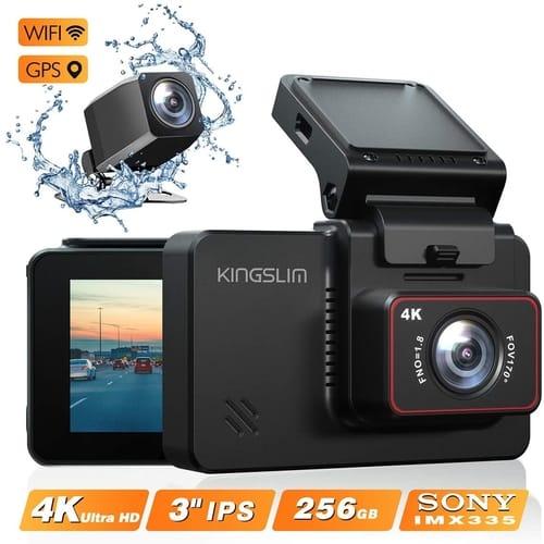 Review Kingslim D4 Wi-Fi GPS 4K Dual Dash Cam