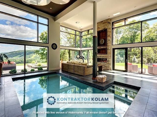 desain kolam renang indoor pool Tangerang Selatan