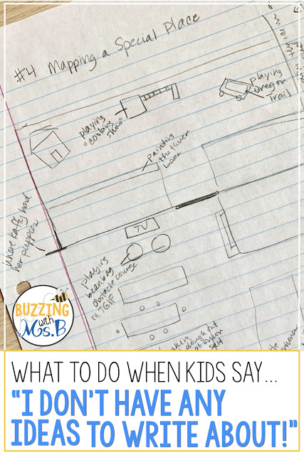This is even better than an anchor chart. Help your kids brainstorm ideas during prewriting with this easy to use (and fun) activity! It's a strategy that works every time for 3rd, 4th, and 5th grade students, and it will help your kids generate ideas for their personal narratives so they can move forward in the writing process! Get kids unstuck with this strategy! A how-to video helps get you started!