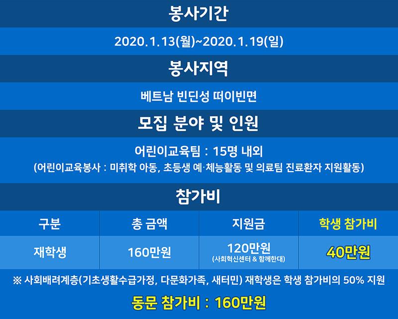 2019.10.14 2020 베트남해외봉사 모집안내 디자인 Wed3