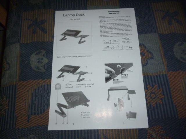 Anti-Rutsch-Stab Diswoe Faltbarer Laptop Schreibtisch Tragbarer Notbooke Tisch Lapdesk mit Multi Winkel-Bein-Maus-Plattform u