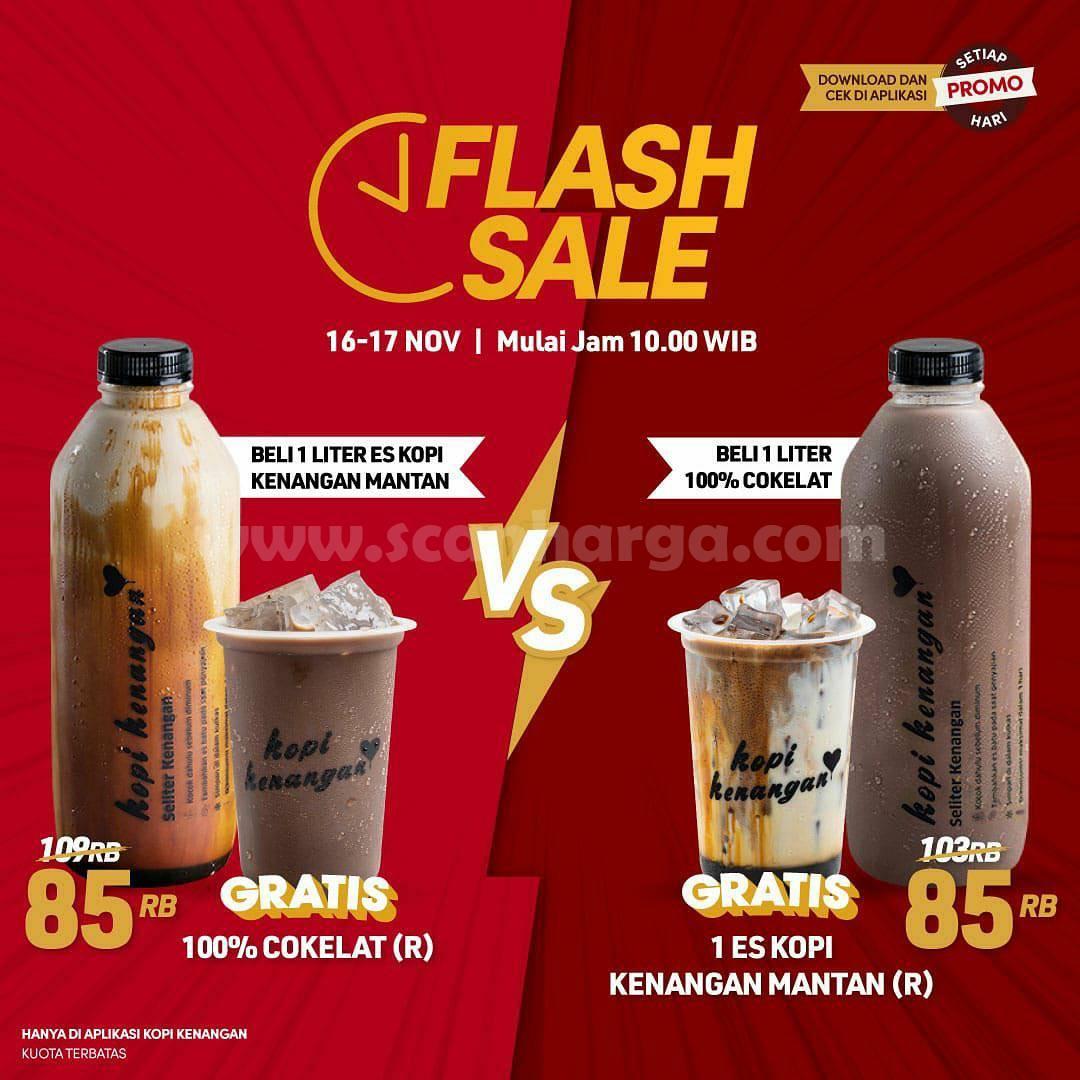 Kopi Kenangan Promo FLASH SALE - 2 Paket minuman cuma Rp 85RB
