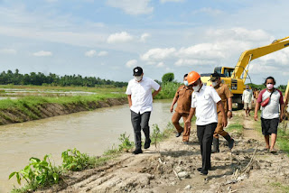 Lahan Pertanian Terdampak Banjir, Bupati Batu Bara Instruksikan Normalisasi Sungai