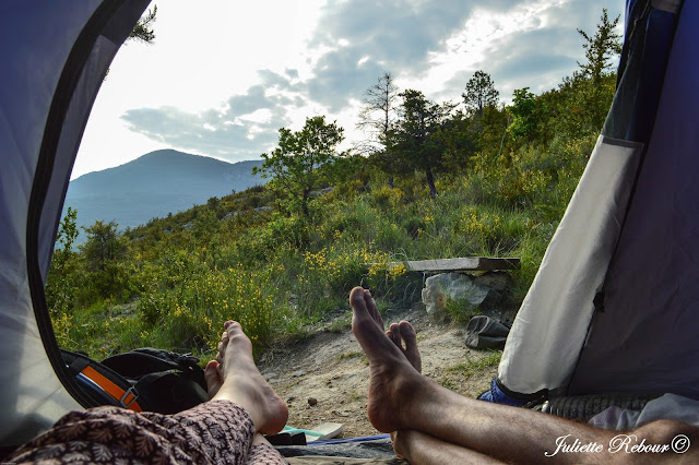 Camping semi-sauvage dans le Verdon