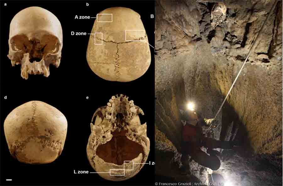 Severed Head of Stone Age Woman Found Lodged in Rocks of Italian Cave