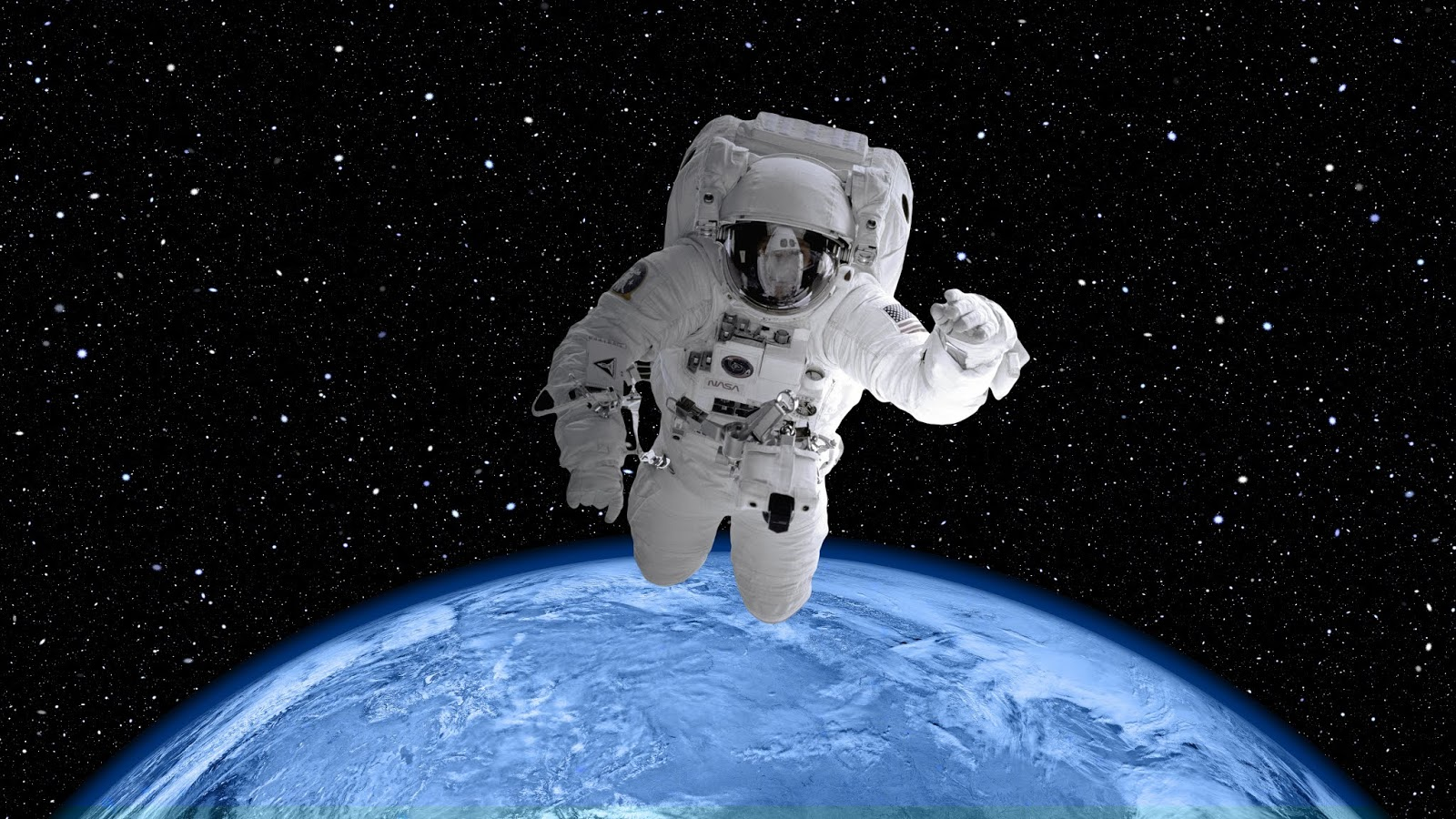 Astronaut, Earth, Orbit, Space Suit, 4K, 8K