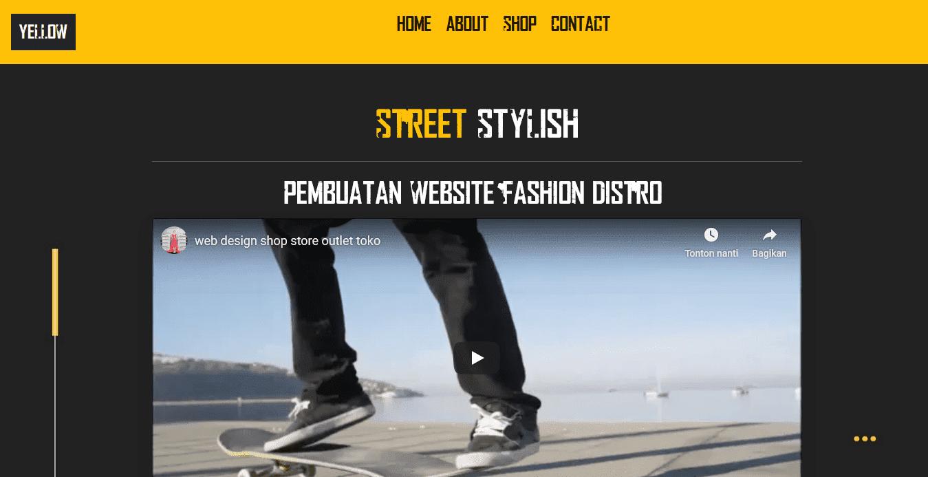 aplikasi toko keren dengan websi