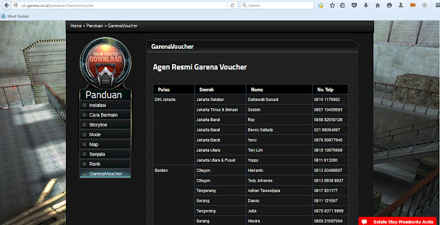 Cara menjadi reseller voucher Game  Point Blank Garena Indonesia
