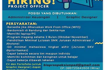 Loker Bandung Staff Keuangan & Graphic Designer Bioprospeksi