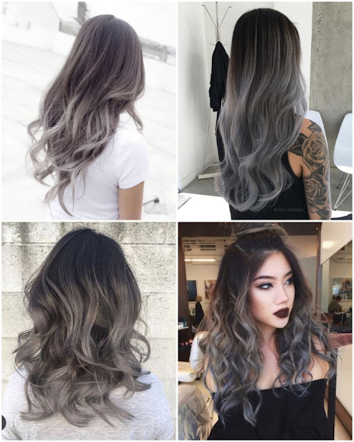 beauty grey hair with l'al