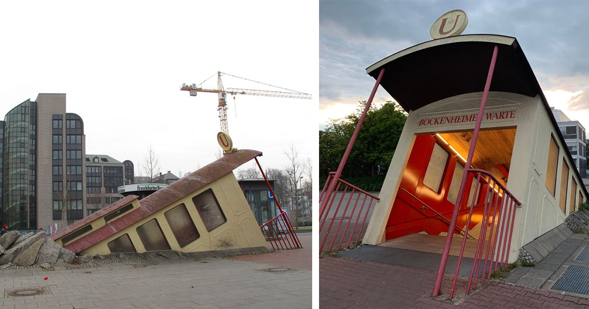The Most Extraordinary Subway Station Entrance Is In Frankfurt, Germany