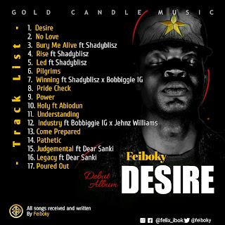 Tracklist for Feiboky - Desire (Album)