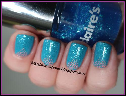 Claire's: #30858 Blue Sparkle Glitter